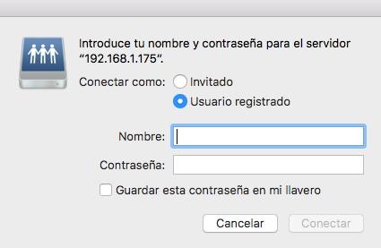 MacOS acceso a las carpetas de Kodi
