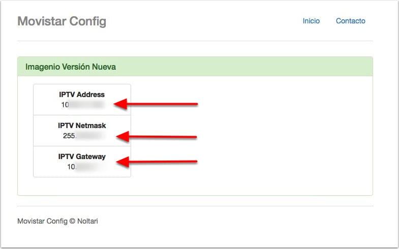 Configuración Movistar en web noltari