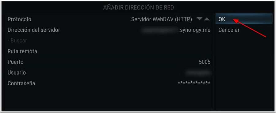 Kodi, Servido WebDAV http