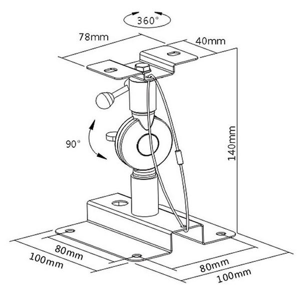 Medidas de cada soporte para altavoces Maclean
