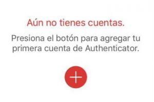 Añadiendo una cuenta en la app Authy