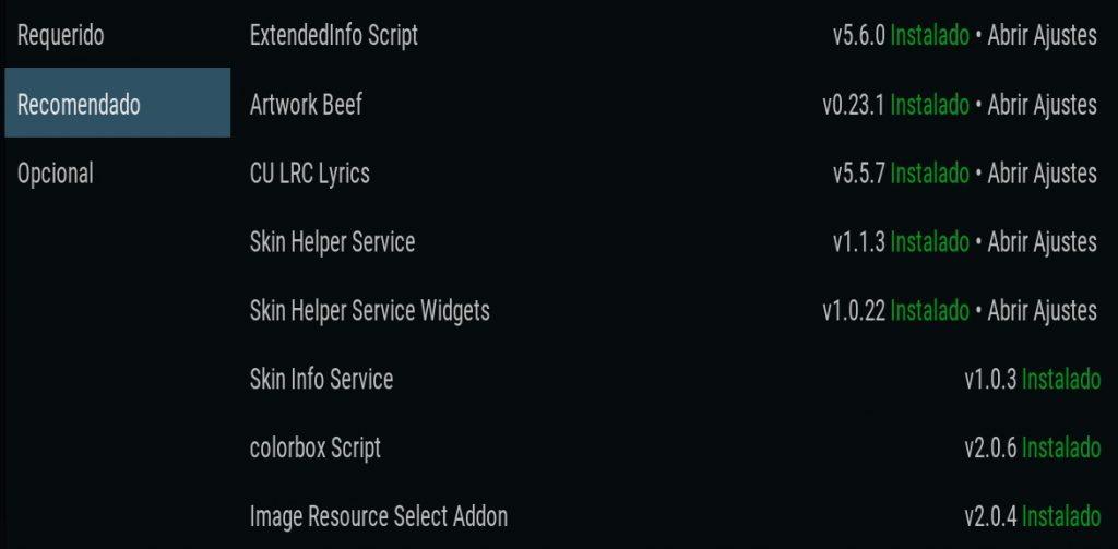 Addons recomendados por Aeon Nox Silvo